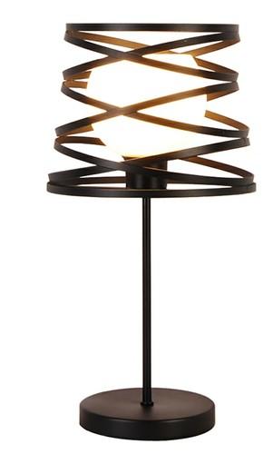 Akita 1 schwarze Tischlampe