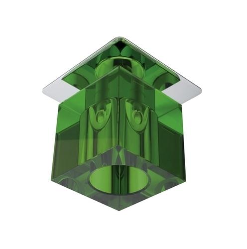 Sk-19 Ch / Gr G4 Chrom Unterputz Decke Konstant Kristall 20W G4 Grün