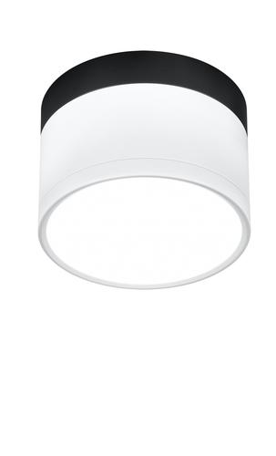 Deckenleuchte Tuba 9W Led 4000K Weiß + Schwarz Dia. 8,8 cm