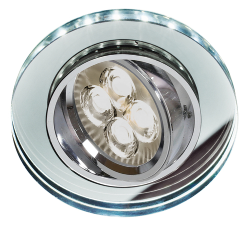 Ssu-23 Ch / Tr + Wh Gu10 50W + LED Smd 230V Weiß 2 1W Chrom Mesh Deckenleuchte Rundes Glas Transparentes Glas