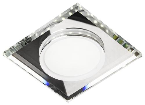 Ssp-22 Ch / Tr + Wh 8W LED 230V Ring LED Weiß Öse Decke Deckenleuchte Festes quadratisches Glas transparent