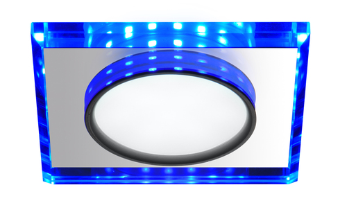 Ssp-22 Ch / Tr + Bl 8W LED 230V Ring LED Blue Eyelet Decke Deckenleuchte Festes quadratisches Glas transparent