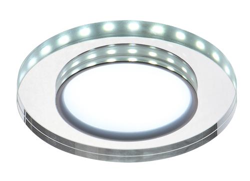 Ssp-23 Ch / Tr + Wh 8W LED 230V Ring LED Weiß Öse Decke Deckenleuchte Festes rundes Glas transparent