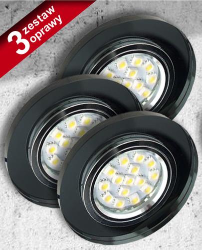 Set mit drei Lampen Ss-15 Ch / Bk Schwarz 3X50W Gu10 ohne Glühbirne