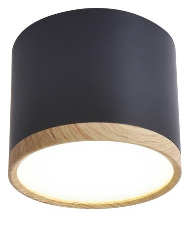 Tuba Deckenleuchte 9W LED 8,8 / 7,5 Holz + Schwarz 4000K