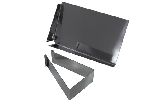 Ein altes Ziegelwerkzeug / Tablett zum Verfugen von Klinker 2in1 Edelstahl