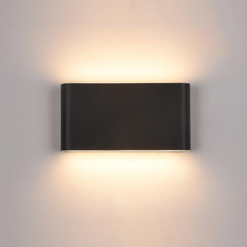 Schwarze Romano LED Außenwandleuchte