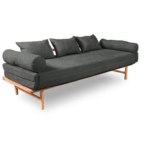Le MAR Daybed Sofa unbehandelt holzgrau