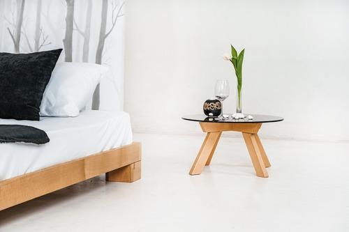 Würfel Doppelbett 160x200 Rohholz