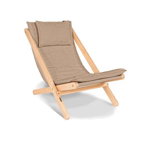 Allegro Sonnenliege geöltes Holz (Leinöl) - beige