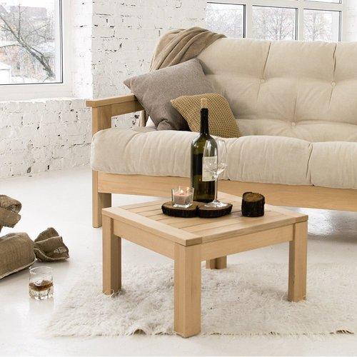 MEXICO Sofa geöltes Holz (Leinöl) - Creme