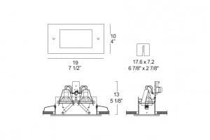 Deckenleuchte Itre (Leucos) Faretti SD 202 2x50W GU5,3 12V small 1