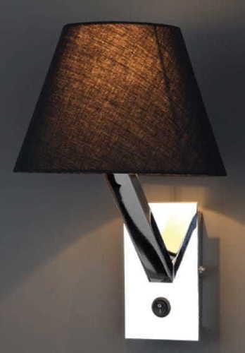 Orlando Wandleuchte schwarz verchromt 5103W / BL CR Max Light