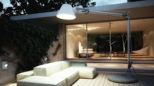 Tolomeo XXL Außenleuchte mit Sockel - LED Artemide