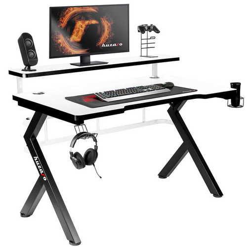 Hochmoderner Gaming-Schreibtisch HZ-Hero 5.0 Weiß
