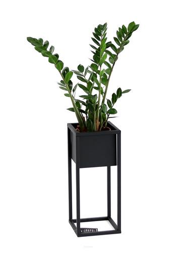 LOFT Blumenständer, Metallbodenständer, CUBO 50 cm, schwarz