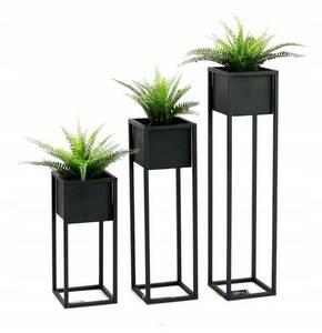 LOFT Blumenständer, Metallbodenständer, CUBO 50 cm, schwarz small 3