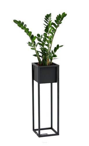 Loft Blumenständer Metall Pflanzenständer CUBO 70cm schwarze Loftbox