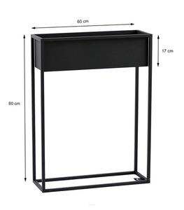 Metallblumenständer CUBO 80x60cm schwarze Loftbox small 1