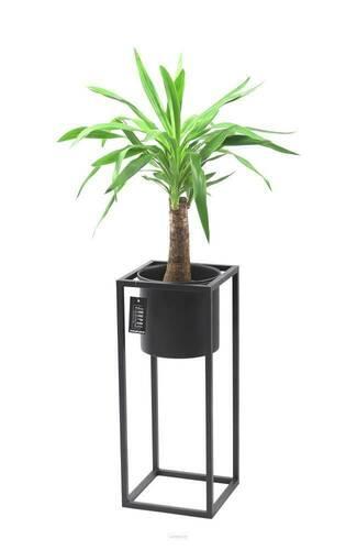 Metallblumenständer mit Topf für Pflanzen UGO 60cm schwarzer Dachboden