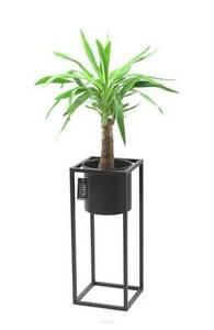 Metallblumenständer mit Topf für Pflanzen UGO 60cm schwarzer Dachboden small 0