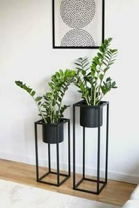 Metallblumenständer mit Topf für Pflanzen UGO 60cm schwarzer Dachboden small 5