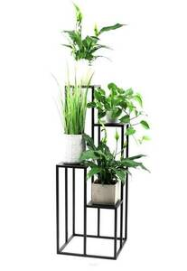 Metallblumenständer für vier Blumen METALLO 112cm schwarz LOFT small 1