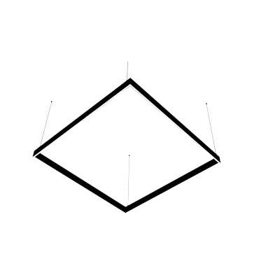 Lineare LED-Lampe Abigali Square System zweifach seitlich quadratisch 120x120