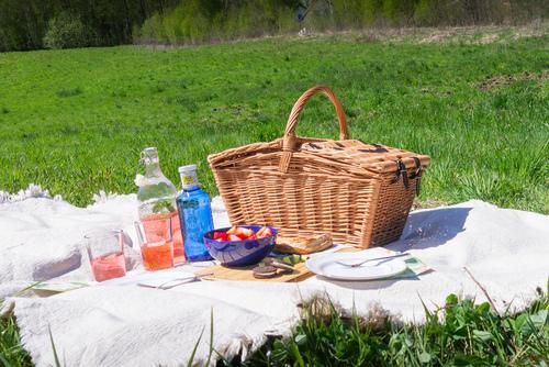 Picknickkorb aus Weidengeflecht - handgefertigt