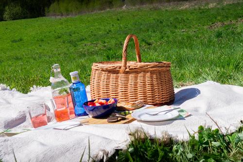 Geschlossener Korb Picknick / Einkaufskorb - Öko - Handarbeit