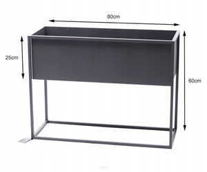 Metall Blumenständer CUBO 60x80x30cm graue Loftbox small 3