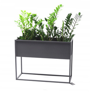 Metall Blumenständer CUBO 60x80x30cm graue Loftbox small 0