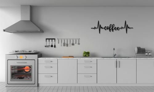 Kaffee Schriftzug Wanddekoration