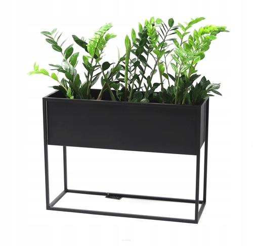 Metall Blumenständer CUBO 60x80x30cm schwarz LOFT Box