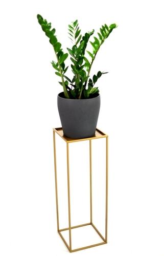 Blumenbeet LOFT Metallständer für einen Topf 100cm gold