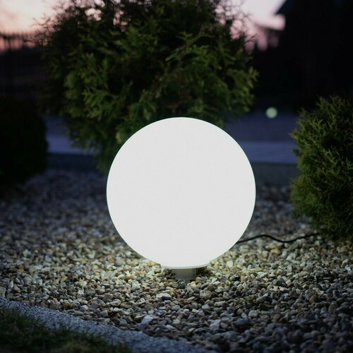 Weißer Gartenball Fi30 9 W RGB IP44