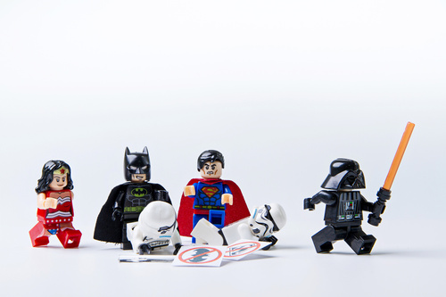 Fototapete Lego, Wonder Woman, Batman, Superman, Star Wars, Kinder, Spielzeug