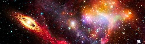 Fototapete 3D, Kosmos, Star Wars, Sterne, Milchstraße, Asteroiden