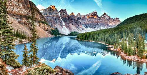 Fototapete Kanada, See, Alberta, Landschaft, Natur