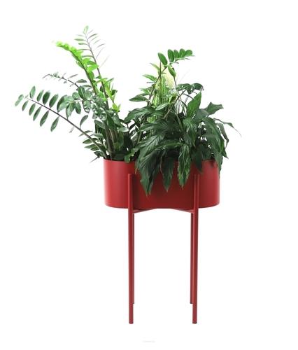 Exklusives Metall Blumenbeet PIATO 70cm bordeauxrot