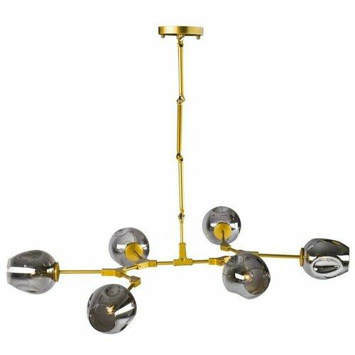 Pendelleuchte MODERN ORCHID-6 graugold 130 cm