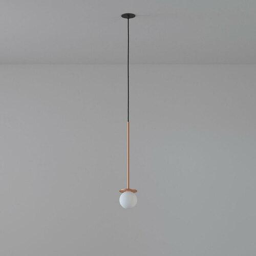 COTTON 400 fi100 hängender Einlauf max. 1x1,9W, G9, 230V, schwarzes Kabel, kupferfarben (glattmatte)