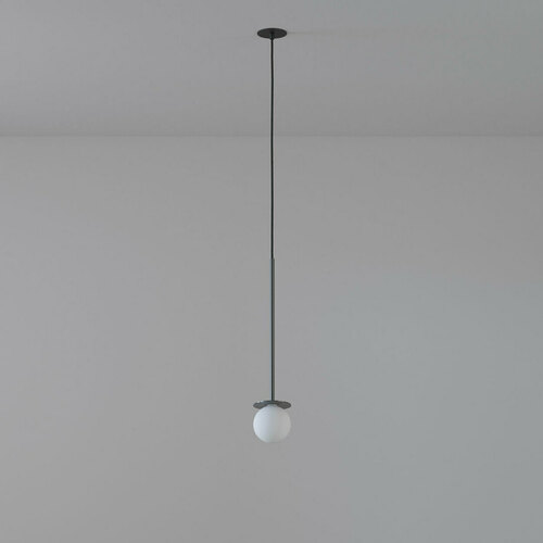 COTTON 400 fi100 hängender Einlauf max. 1x1,9W, G9, 230V, Kabel schwarz, graphitgrau (glänzend) RAL 7024