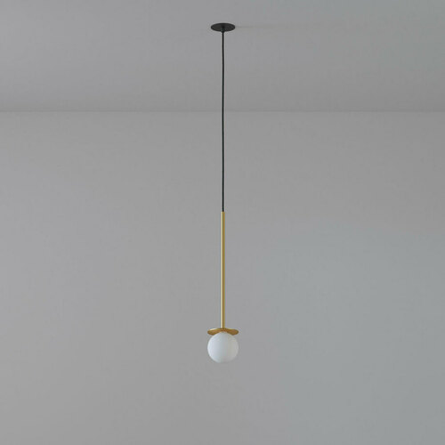 COTTON 450 fi100 hängender Einlass max. 1x1,9W, G9, 230V, schwarzes Kabel, goldfarben (glattmatte)