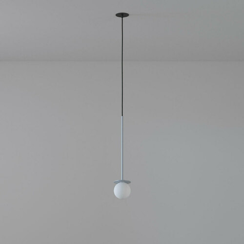 COTTON 450 fi100 hängender Einlass max. 1x1,9W, G9, 230V, Kabel schwarz, alusilber (glänzend) RAL 9006