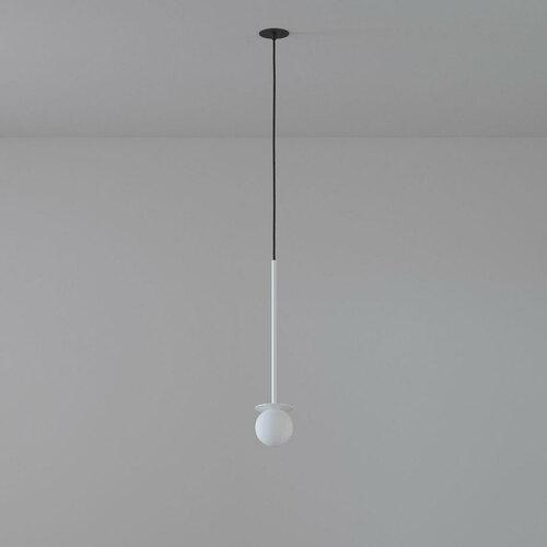 COTTON 500 fi100 hängender Einlauf max. 1x1,9W, G9, 230V, Kabel schwarz, weiß (glänzend) RAL 9003