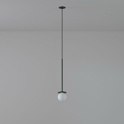 COTTON 500 fi100 hängender Einlauf max. 1x1,9W, G9, 230V, Kabel schwarz, tiefschwarz (glänzend) RAL 9005