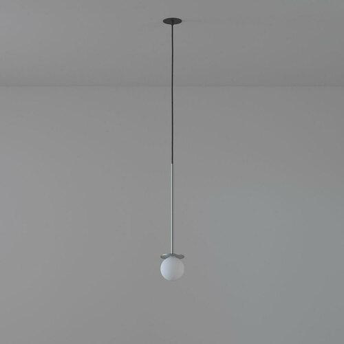 COTTON 500 fi100 hängender Einlauf max. 1x1,9W, G9, 230V, schwarzes Kabel, silberne Farbe (glattmatte)
