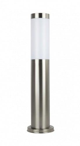 Lichtmast aus 100cm Edelstahl LED