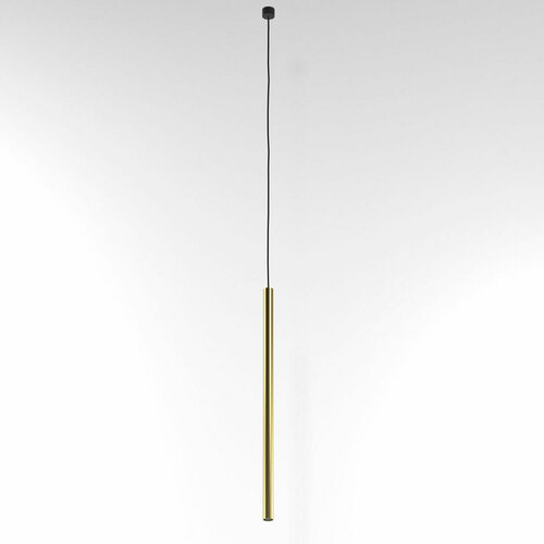 NER 350 hängend max. 1x2,5W, G9, 230V, schwarzes Kabel, goldfarben (glattmatte)